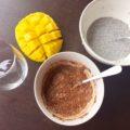 Mango-chia puding